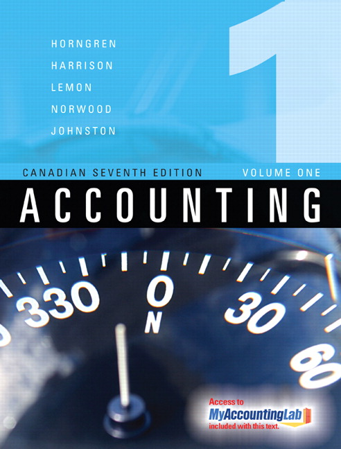 Pearson accounting volume i canadian seventh edition 7e view larger cover fandeluxe Gallery