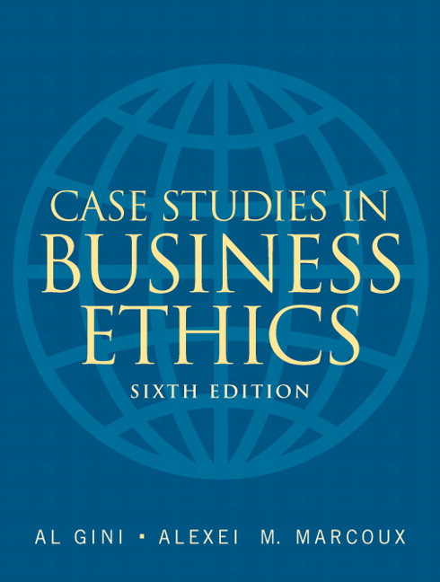 Case Studies in Business Ethics by Marianne M Jennings, Marianne