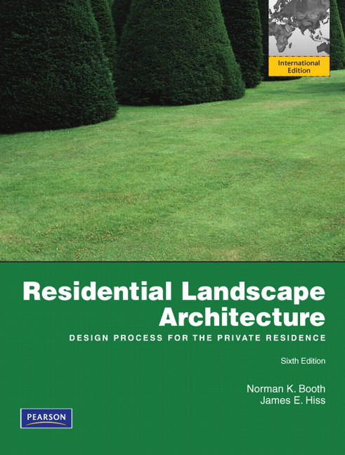 View Larger Cover Residential Landscape Architecture Design Process For The Private Residence
