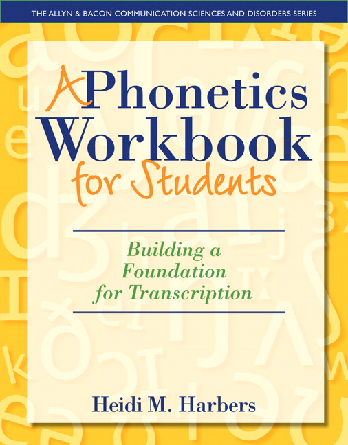 Pearson Phonetics Workbook For Students A Building A Foundation