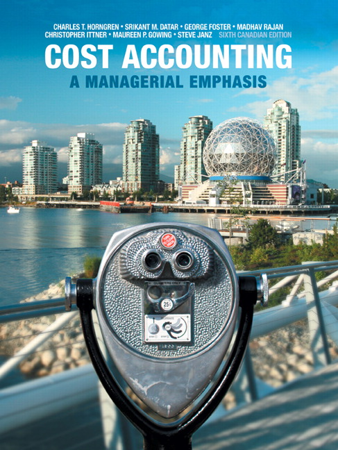 Pearson cost accounting a managerial emphasis sixth canadian view larger cover cost accounting fandeluxe Images