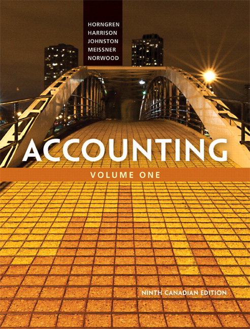 Pearson - Accounting, Volume 1, Ninth Canadian Edition Plus ...