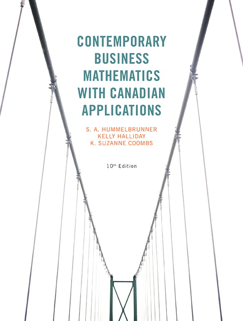 Pearson contemporary business mathematics with canadian view larger cover contemporary business fandeluxe Images