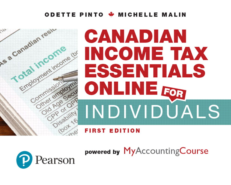 Pearson - Canadian Income Tax Essentials Online for Individuals ...