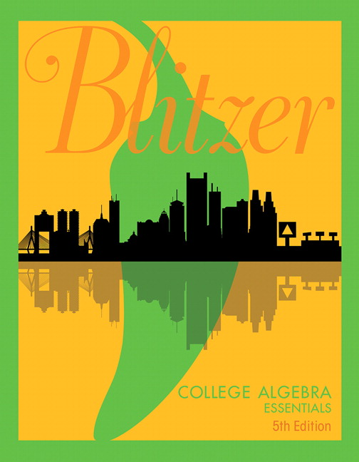 Pearson college algebra essentials 5e robert f blitzer view larger cover fandeluxe Choice Image