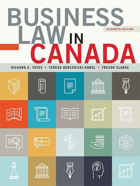 Pearson business law in canada eleventh canadian edition plus view larger cover fandeluxe Images