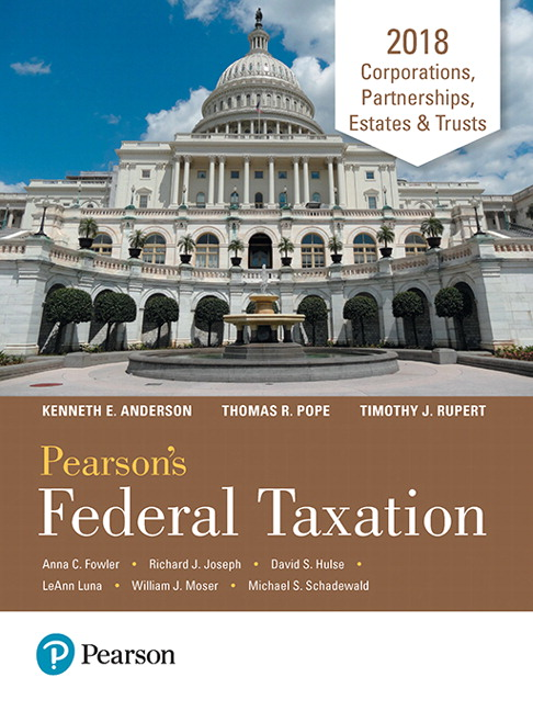Pearson pearsons federal taxation 2018 corporations partnerships view larger cover pearsons federal taxation fandeluxe