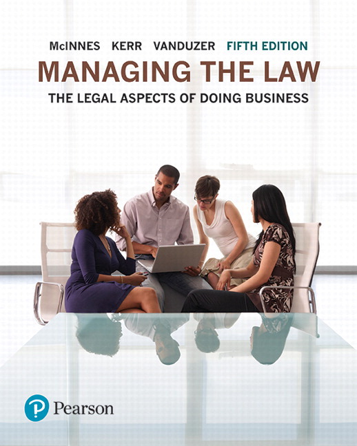 Pearson managing the law the legal aspects of doing business plus view larger cover fandeluxe Image collections