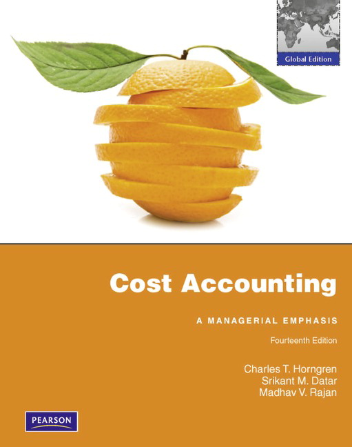 Pearson cost accounting with myaccountinglab global edition 14e view larger cover fandeluxe Images
