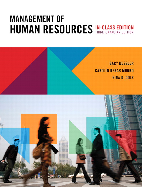 Pearson management of human resources third canadian edition in view larger cover fandeluxe Images
