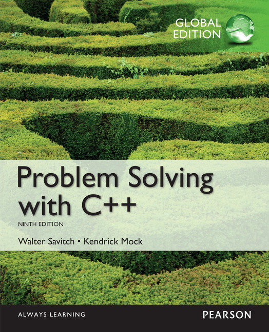 pearson problem solving with c global edition 9 e walter savitch rh catalogue pearsoned co uk