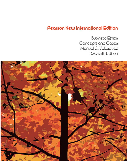 Pearson business ethics pearson new international edition view larger cover business ethics pearson new international edition concepts and cases 7e manuel g velasquez fandeluxe Image collections