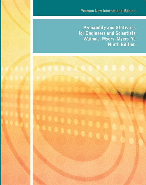 Pearson probability and statistics for engineers and scientists view larger cover probability and statistics fandeluxe Choice Image