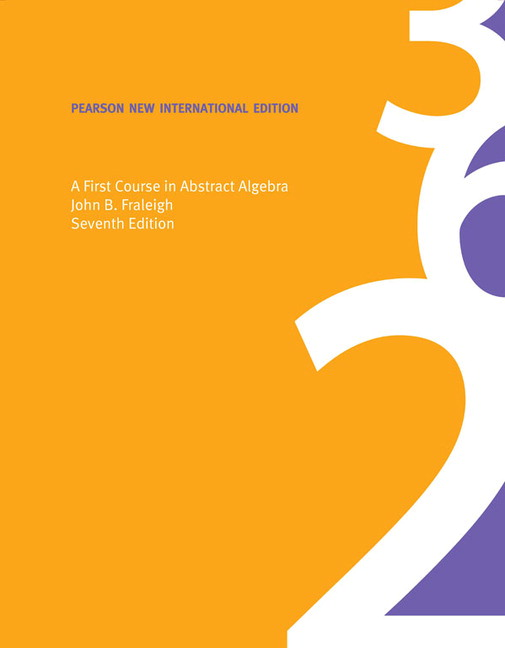 Pearson first course in abstract algebra a pearson new view larger cover first course in abstract algebra fandeluxe Image collections