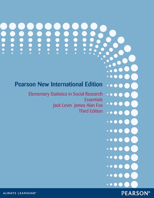 Pearson elementary statistics in social research pearson new view larger cover elementary statistics fandeluxe Images