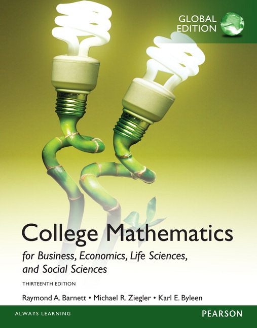 Pearson college mathematics for business economics life sciences view larger cover fandeluxe Choice Image
