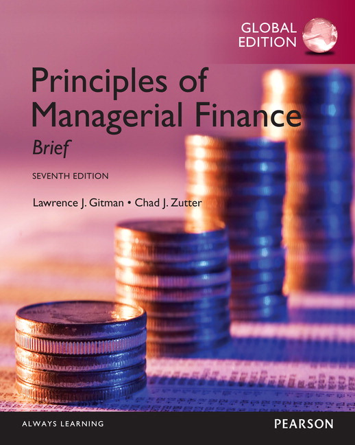 pearson principles of managerial finance brief global edition 7