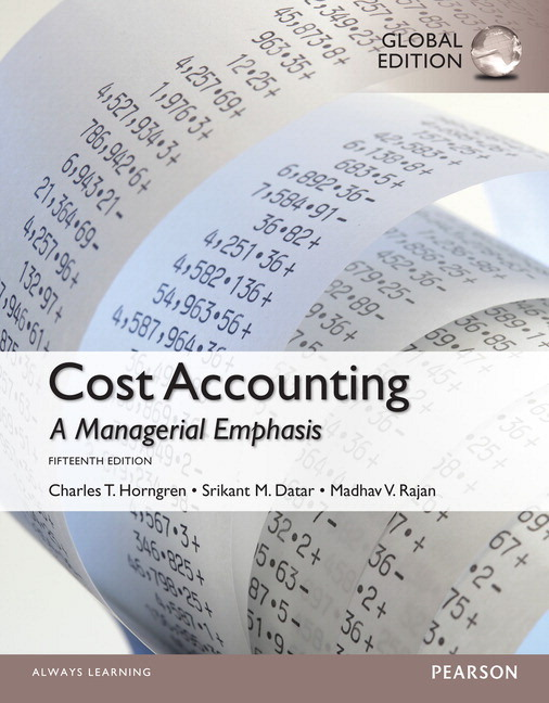 Pearson cost accounting with myaccountinglab global edition 15e view larger cover fandeluxe Gallery