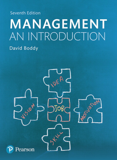 Pearson management an introduction 7e david boddy view larger cover management an introduction fandeluxe Image collections