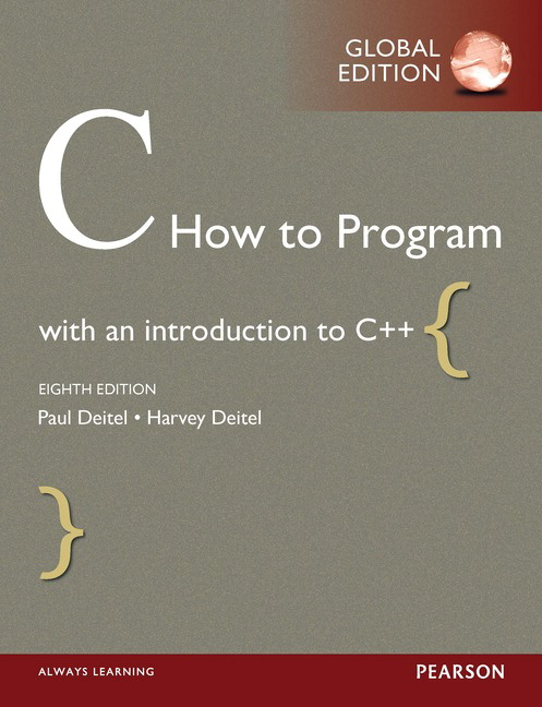 Pearson c how to program global edition 8e paul deitel view larger cover fandeluxe Image collections
