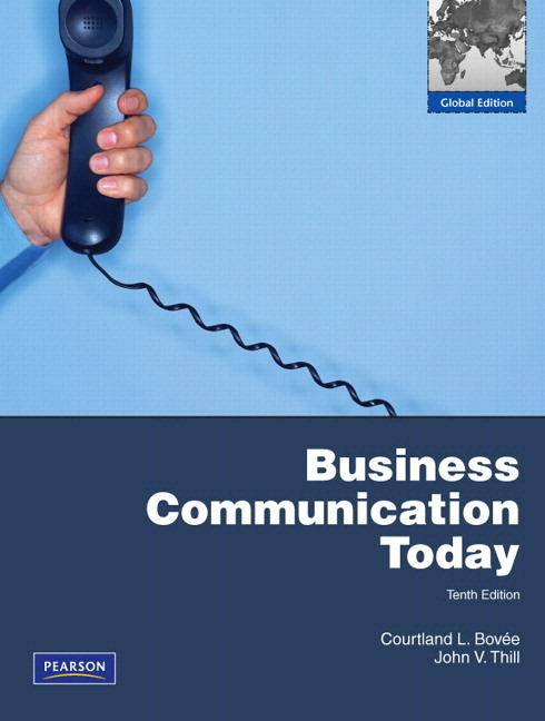 Business Communication Book Bovee Business Communication