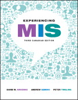 Experiencing MIS, Third Canadian Edition, 3/e [book cover]