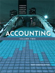 Accounting, Volume 2, Ninth Canadian Edition, 9/e [book cover]