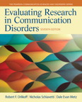 Evaluating Research in Communication Disorders, 7/e/e