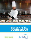 ServSafe CourseBook with Answer Sheet 6th Edition Revised, 6/e [book cover]