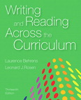 Writing and Reading Across the Curriculum, 13/e [book cover]