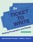 Ticket to Write: Writing Paragraphs and Essays, 2/e [book cover]