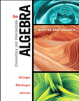 Elementary & Intermediate Algebra: Graphs & Models, 5/e [book cover]