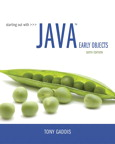 Starting Out with Java: Early Objects, 6/e [book cover]