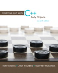 Starting Out with C++: Early Objects, 7/e/e