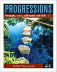Progressions, Book 2: Paragraphs, Essays, and Essentials Study Skills, 9/e [book cover]