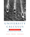 University Calculus: Elements with Early Transcendentals, 1/e [book cover]