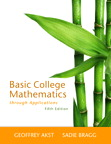 Basic College Mathematics through Applications, 5/e [book cover]