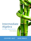 Intermediate Algebra Through Applications, 3/e [book cover]