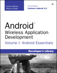 Android Wireless Application Development Volume I: Android Essentials, 3/e [book cover]