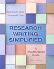 Research Writing Simplified: A Documentation Guide, 8/e [book cover]