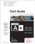 CompTIA A+ 220-801 and 220-802 Authorized Cert Guide, Deluxe Edition, 3/e [book cover]