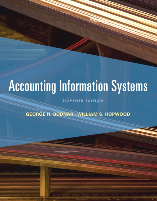 Accounting Information Systems (11th Edition) George H. Bodnar and William S. Hopwood