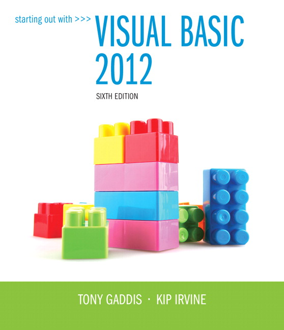 Starting Out with Visual Basic 2012 /6e