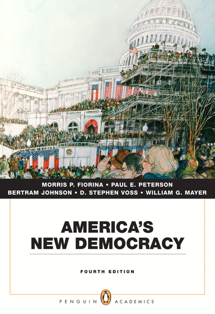 America's New Democracy (Penguin Academic Series) (3rd Edition) Paul E. Peterson, D. Stephen Voss and Bertram Johnson