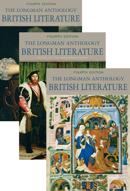 Longman Anthology of British Literature, Volumes 1A, 1B, and 1C, The (4th Edition) David Damrosch, Kevin J. H. Dettmar, Christopher Baswell and Clare Carroll