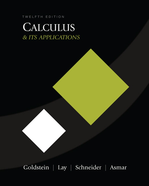 Calculus and its Applications (11th Edition) Larry J. Goldstein, David I. Schneider, David I. Lay and Nakhle H. Asmar